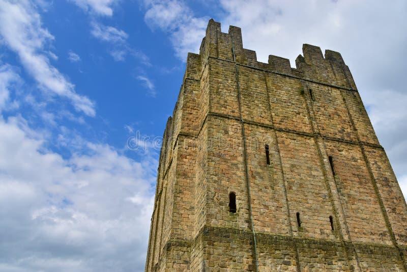 Richmond Castle in Richmond lizenzfreie stockbilder