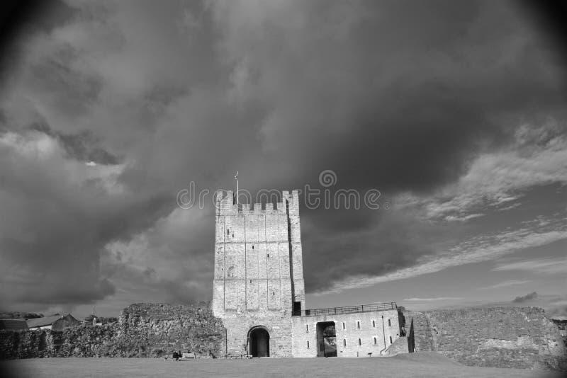 Richmond Castle i North Yorkshire royaltyfri fotografi