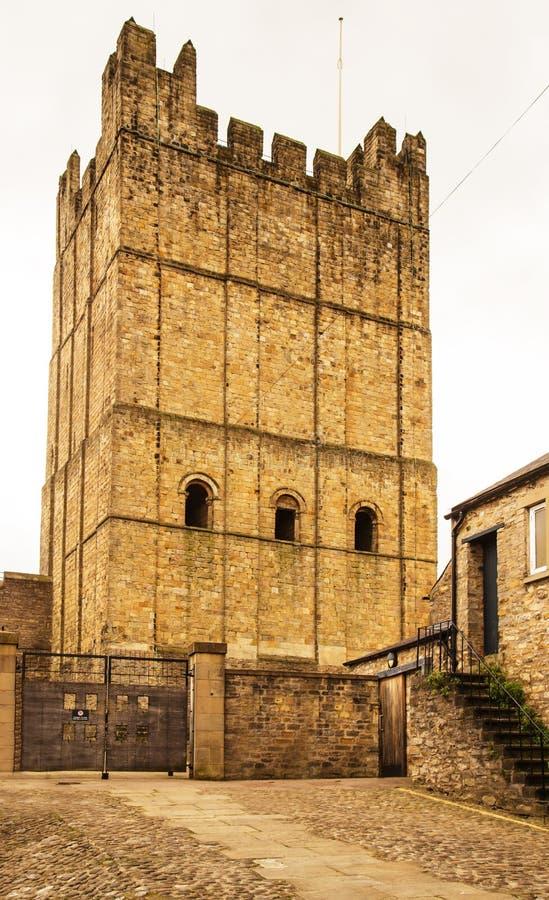Richmond Castle, Yorkshire England stockbild