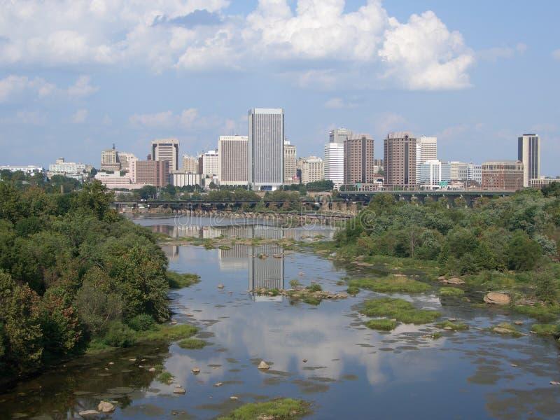 Richmond del centro la Virginia immagine stock libera da diritti