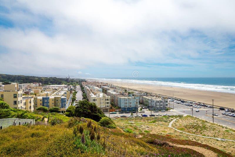 Richmond externe, grande route, plage d'océan, San Francisco, Calif photo stock