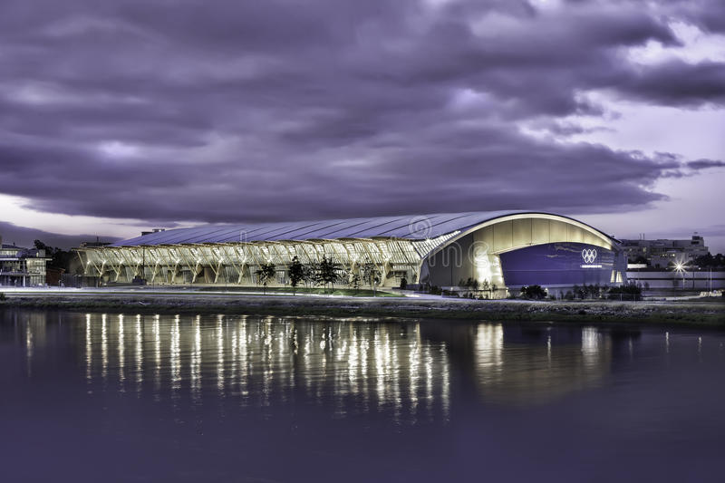 Richmond Olympic Oval Waterfront Editorial Stock Photo