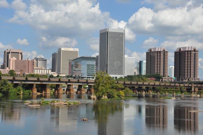 Richmond Skyline in Virginia lizenzfreies stockfoto