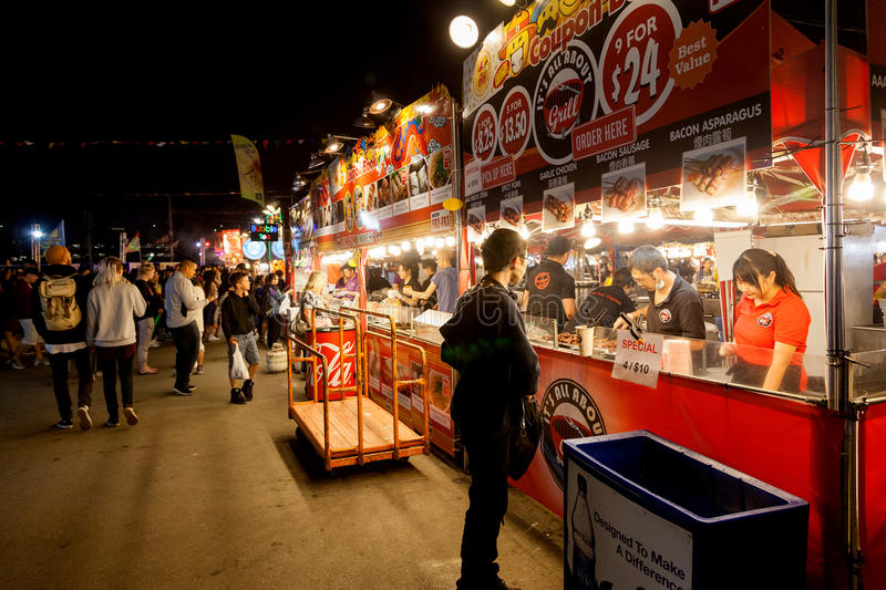 Richmond Summer Night Market. Visitors at the Richmond night market near Vancouver enjoying food and fun. The market attracts visitors from around the world for royalty free stock images