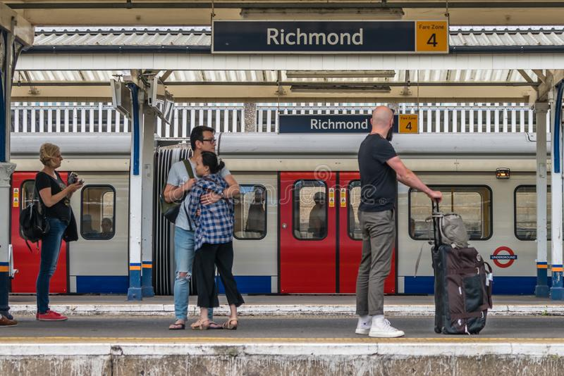 Richmond Tube station in London royalty free stock photography