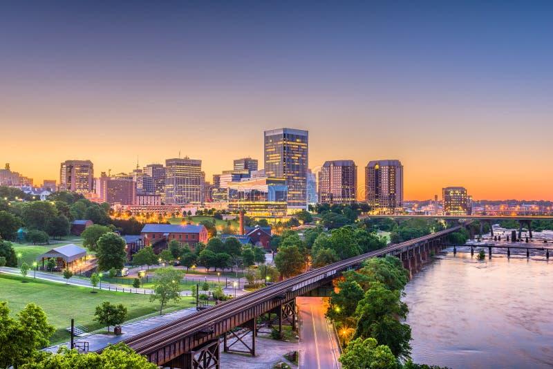 Richmond, Virgínia, EUA Skylinhe foto de stock