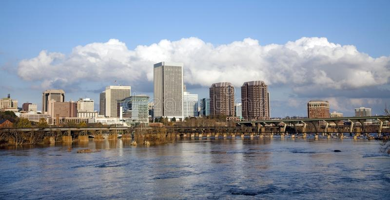 Richmond, Virginia Cityscape Skyline stockbilder
