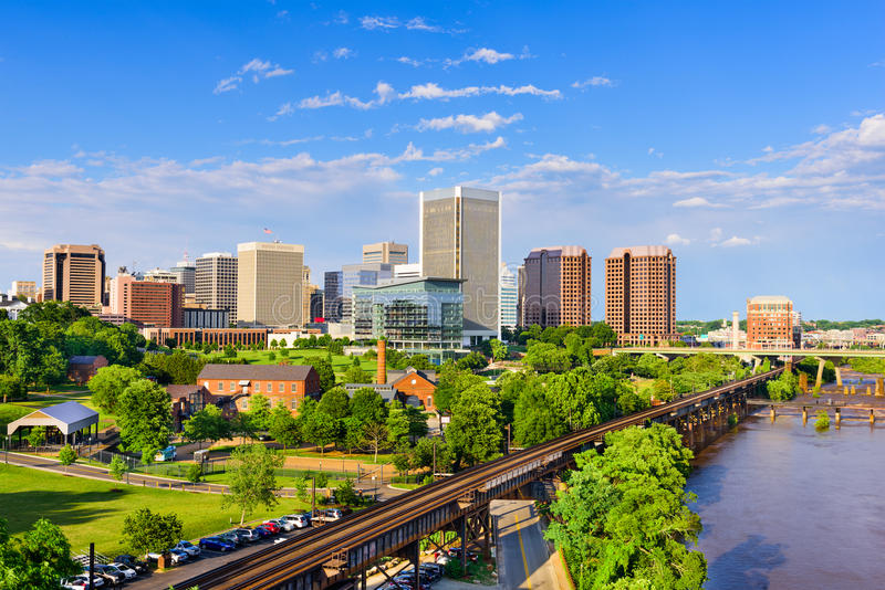 Richmond, Virginia linia horyzontu zdjęcie royalty free