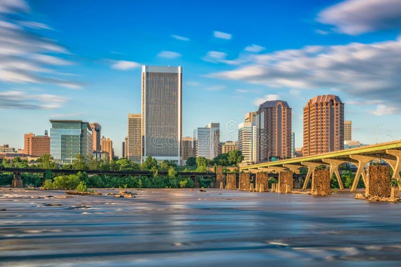 Richmond, Virginia River Skyline royalty free stock images