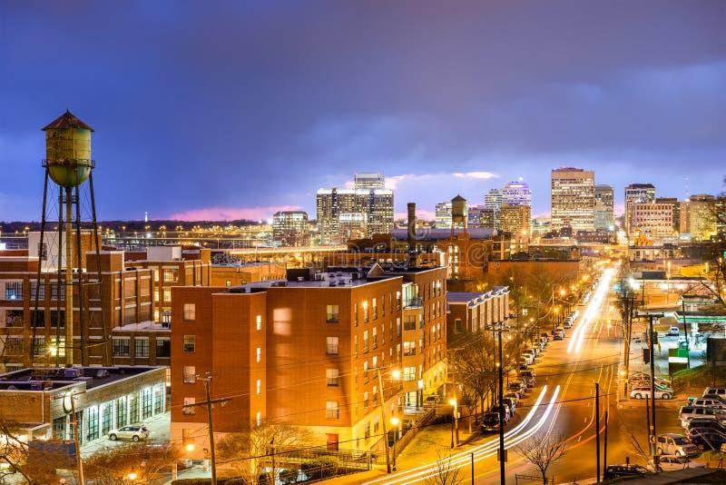 Richmond, Virginia Skyline imagen de archivo
