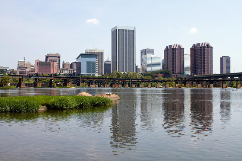 Richmond Virginia Skyline View stock foto