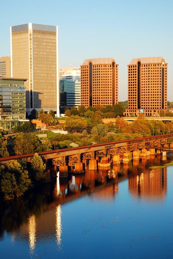 Richmond Virginia und Charles River lizenzfreies stockbild