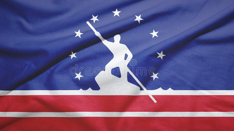 Richmond of Virginia of United States flag background. Richmond of Virginia of United States flag on the fabric texture background stock photography