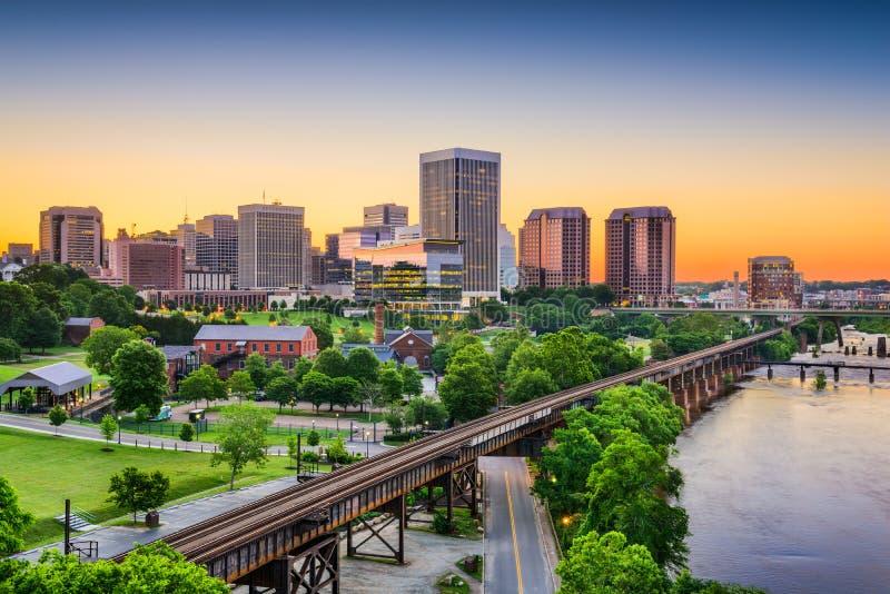 Richmond, Virginia, usa linia horyzontu fotografia stock