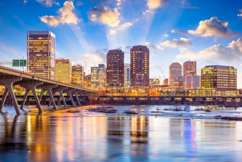 Richmond, Virginia, USA Skyline stock image