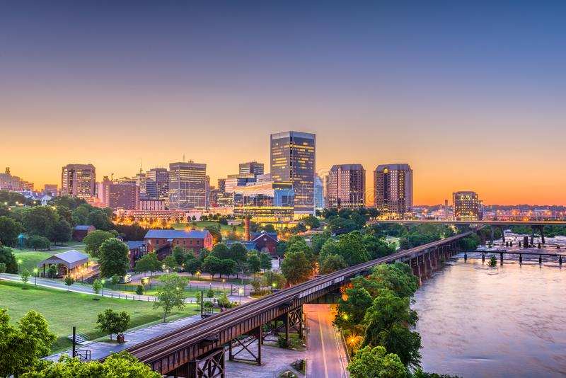 Richmond, Virginia, USA Skylinhe stockfoto