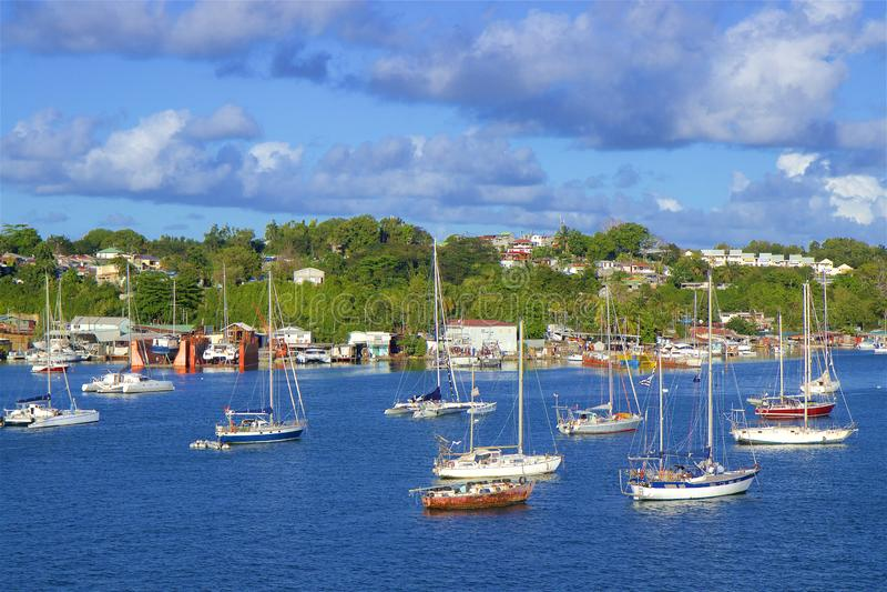 Richt een Pitre in Cara?bisch Guadeloupe, royalty-vrije stock afbeelding