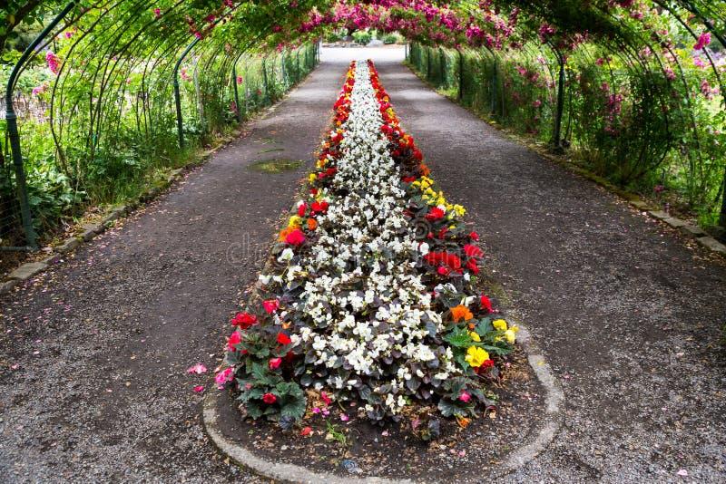 Richt het park van de Uitdagendheid in Tacoma, WA Bloemenboog royalty-vrije stock afbeeldingen