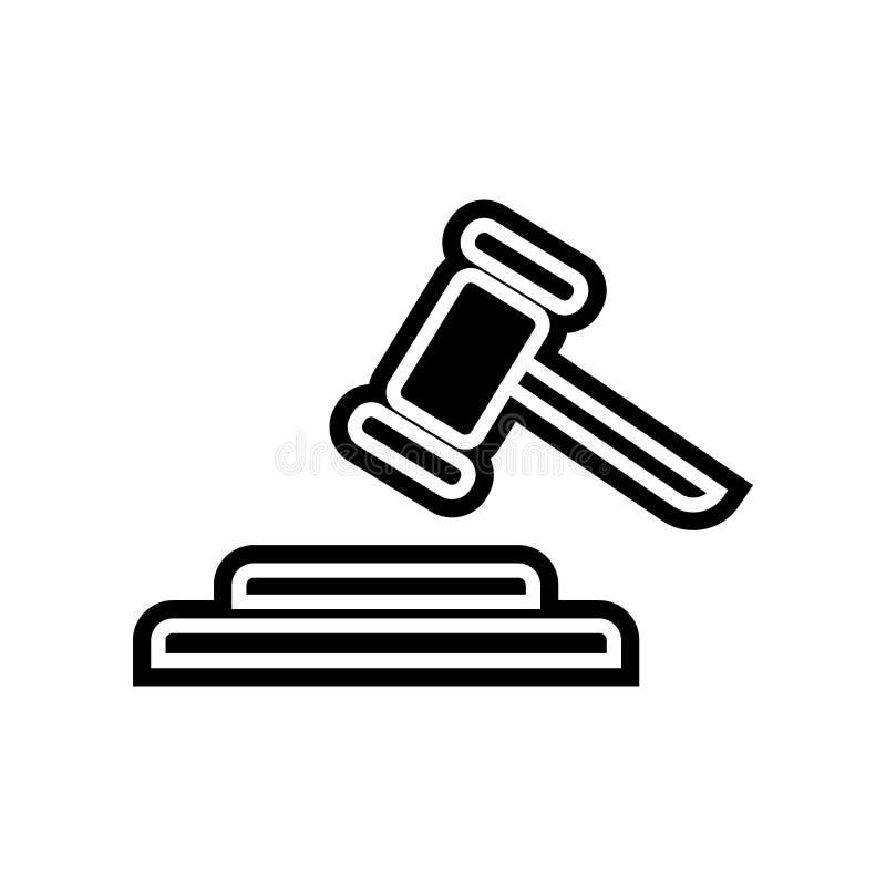 Richterhammerikone Element der Finanzierung f?r bewegliches Konzept und Netz Appsikone Glyph, flache Ikone f?r Websiteentwurf und lizenzfreie abbildung