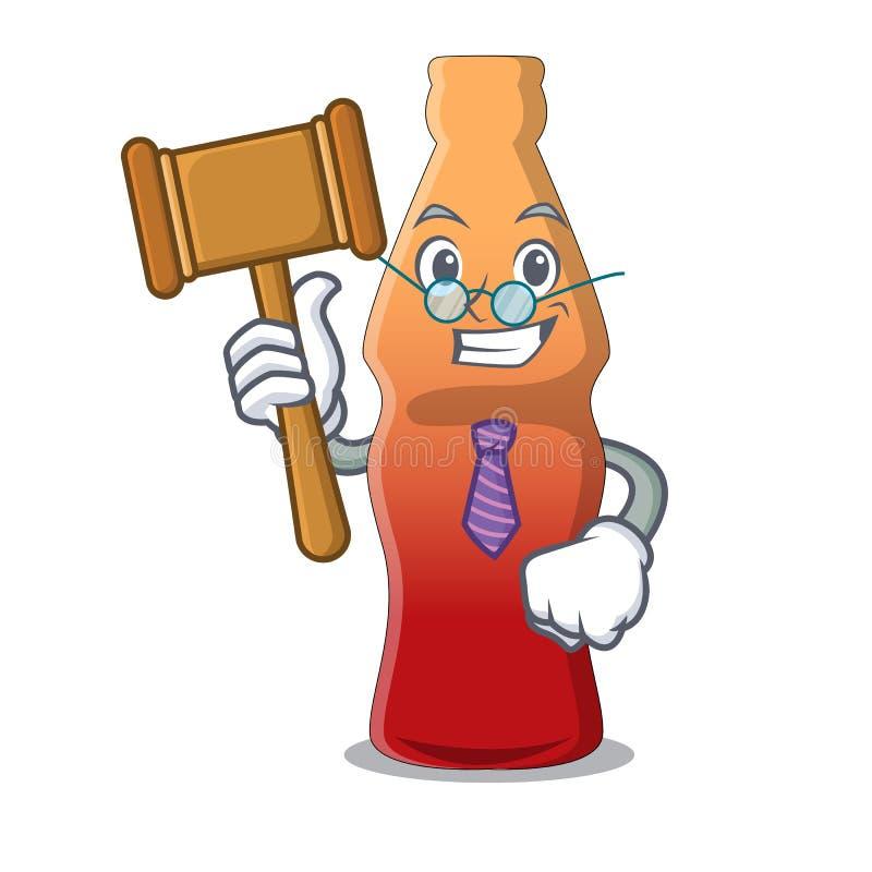 Richterkolabaumflaschengeleesüßigkeits-Maskottchenkarikatur lizenzfreie abbildung