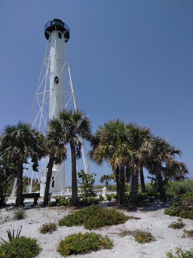 Richtfeuer auf der Insel von Boca Grande Florida lizenzfreie stockfotografie