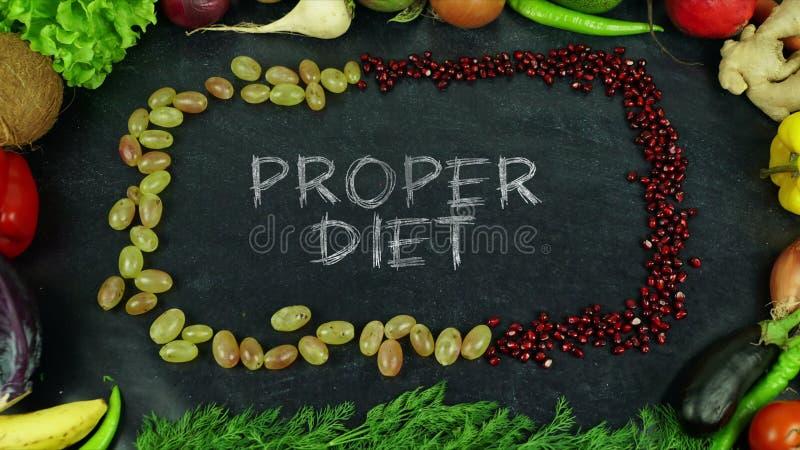 Richtige Diätfrucht stoppen Bewegung lizenzfreies stockfoto