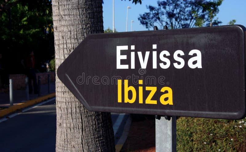 Richting: Ibiza! royalty-vrije stock fotografie