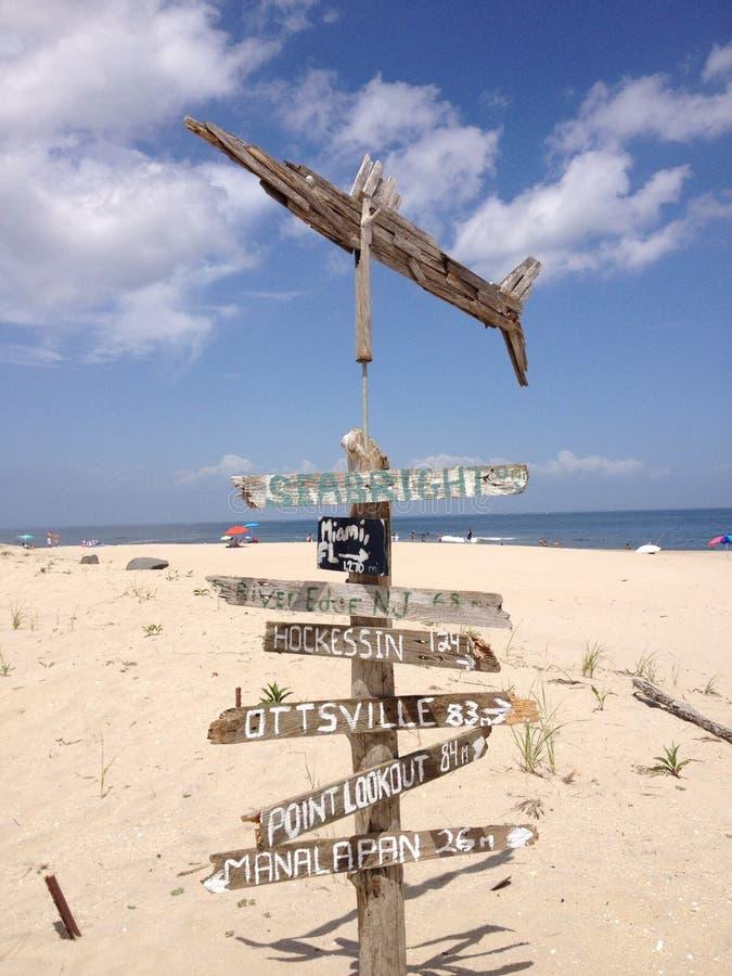Richtingen op een strand stock foto