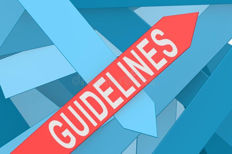 Richtlijnenpijl die omhoog richten stock illustratie