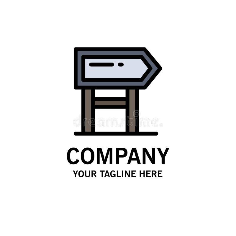 Richtung, Brett, Standort, Motivations-Geschäft Logo Template flache Farbe stock abbildung