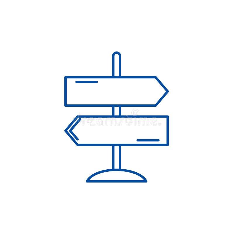 Richtung der Reiselinie Ikonenkonzept Richtung des flachen Vektorsymbols der Reise, Zeichen, Entwurfsillustration vektor abbildung