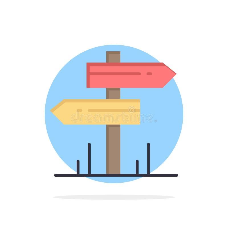 Richtung, Hotel, Motel, flache Ikone Farbe Raum-des abstrakten Kreis-Hintergrundes vektor abbildung