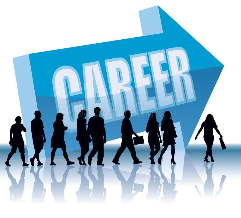 Richtung - Karriere lizenzfreie abbildung