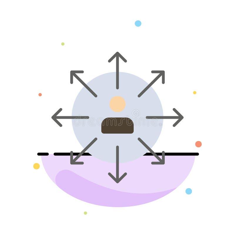 Richtung, Pfeile, Karriere, Angestellter, Mensch, Person, Weisen extrahieren flache Farbikonen-Schablone vektor abbildung