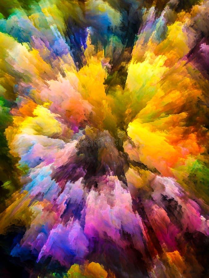 In Richtung zu Digital-Farben lizenzfreie abbildung