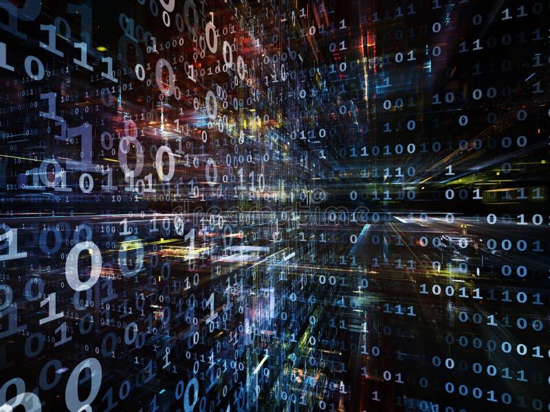 In Richtung zu Digitaltechnik lizenzfreie abbildung