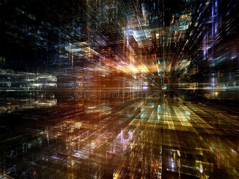 In Richtung zu Welt Digital Digital stock abbildung