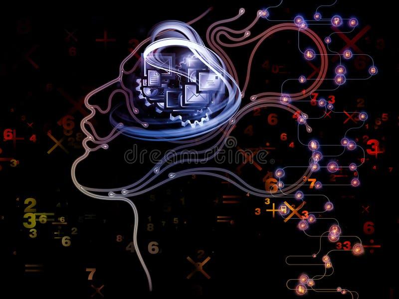 In Richtung zum Digital-Maschinen-Bewusstsein vektor abbildung