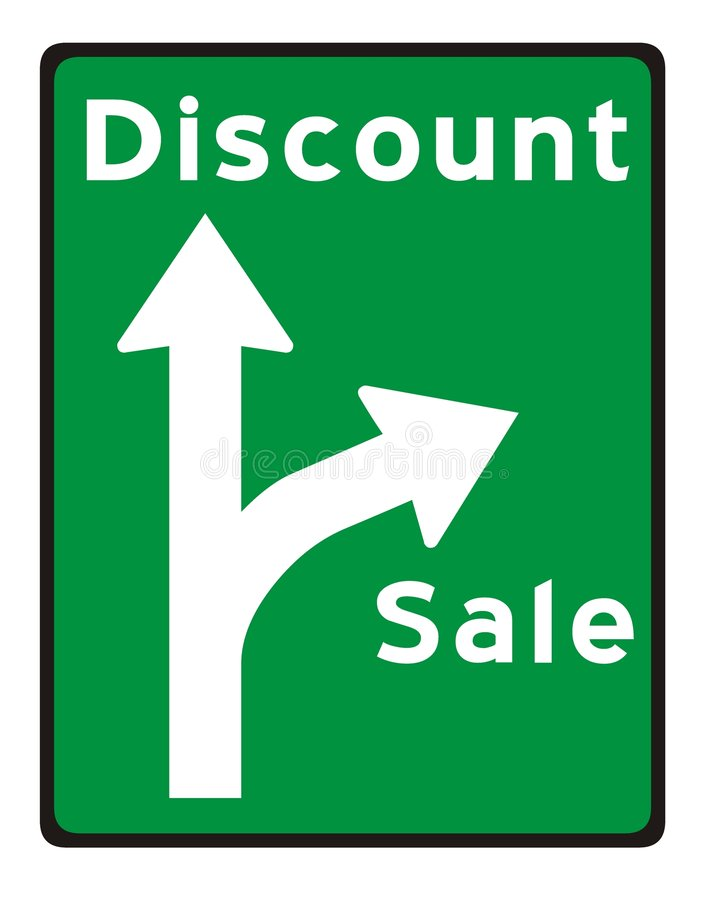 Richtung zum Verkauf stock abbildung