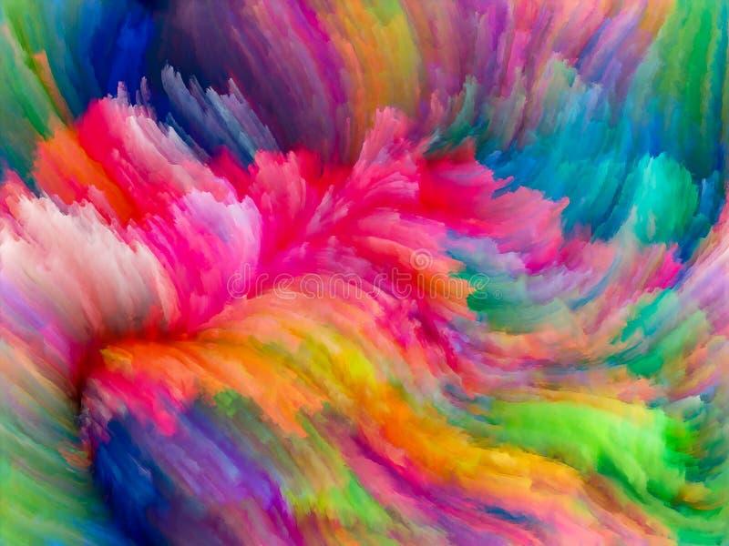 In Richtung zur Digital-Fractal-Farbe lizenzfreie abbildung