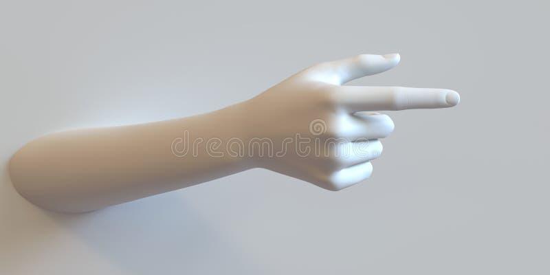 Richtungs-Hand stockfoto