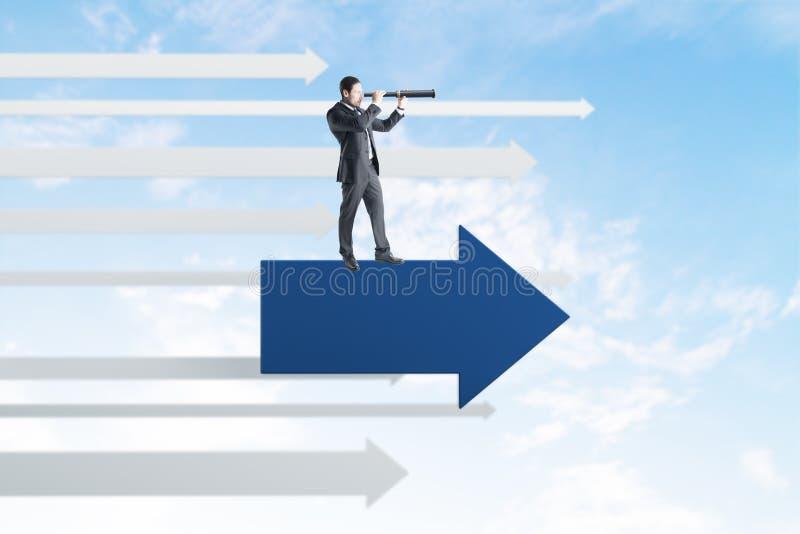Richtungs- und Forschungskonzept stock abbildung