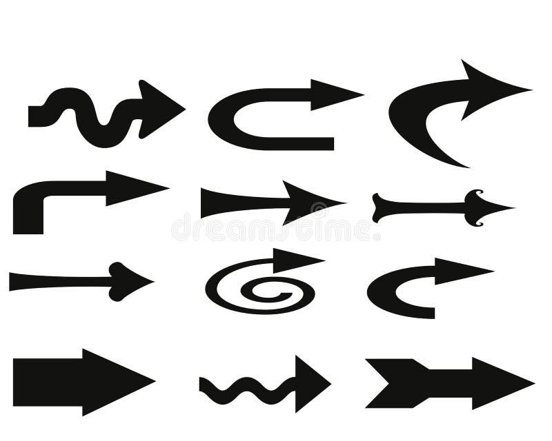 Richtungspfeile stock abbildung
