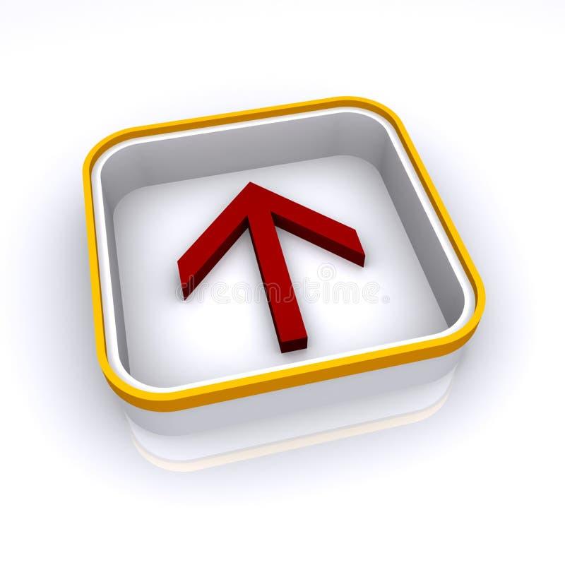 Download Richtungspfeiltaste stock abbildung. Illustration von quadrat - 12201635