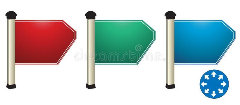 Richtungsvorstand. lizenzfreie abbildung
