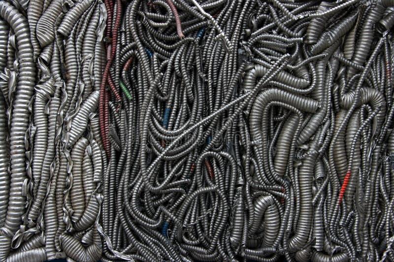 Riciclaggio dei cavi del mixe fotografia stock libera da diritti