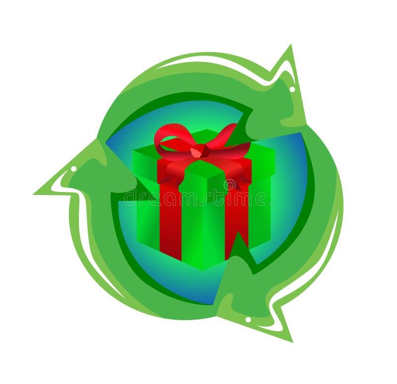 Riciclaggio del concetto del regalo illustrazione vettoriale