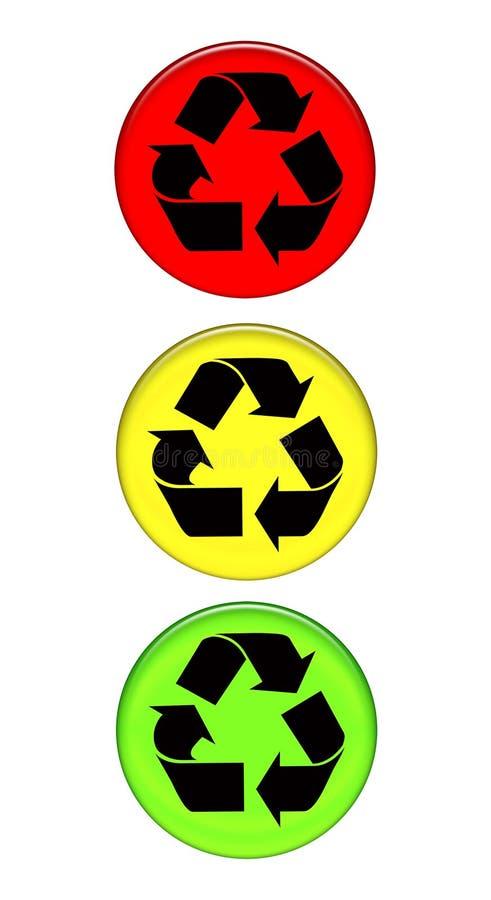 Download Riciclaggio del semaforo illustrazione di stock. Illustrazione di riutilizzazione - 3136174
