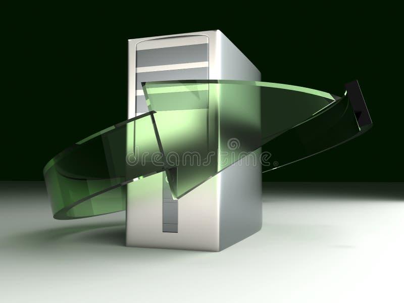 Riciclaggio di desktop pc illustrazione vettoriale
