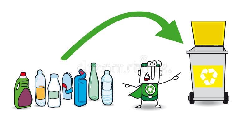 Riciclaggio di plastica royalty illustrazione gratis